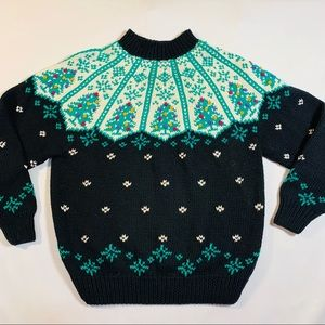 Vintage Christmas Holiday Sweater Cotton 90s